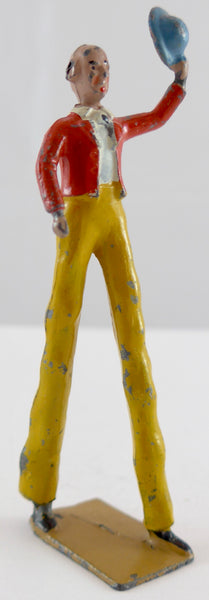 Britains circus man on stilts, yellow