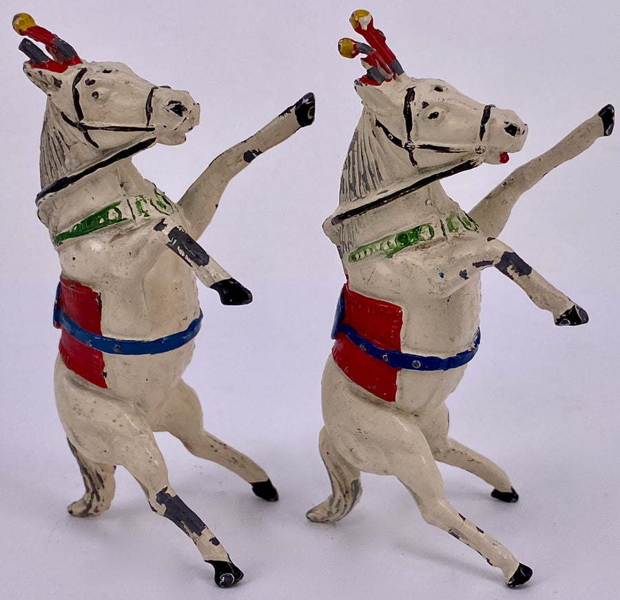 set of two Timpo circus rearing Liberty horses