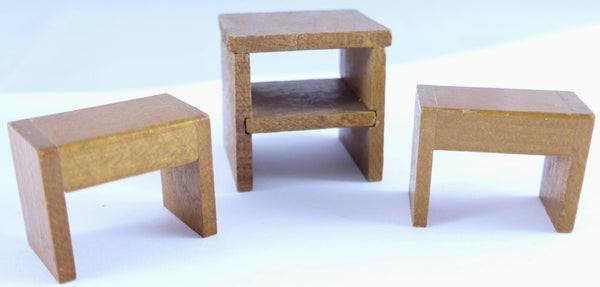 3 side tables for dolls house