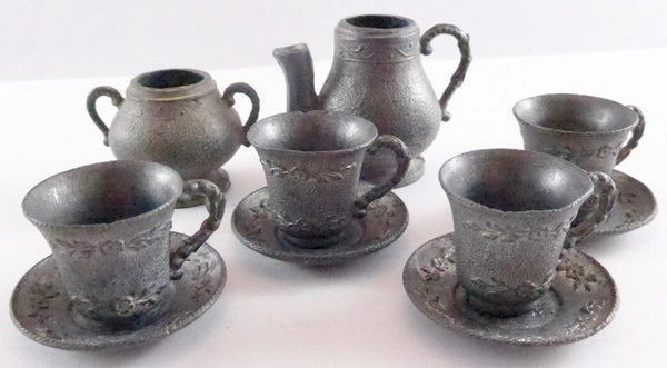 metal tea set, larger scale