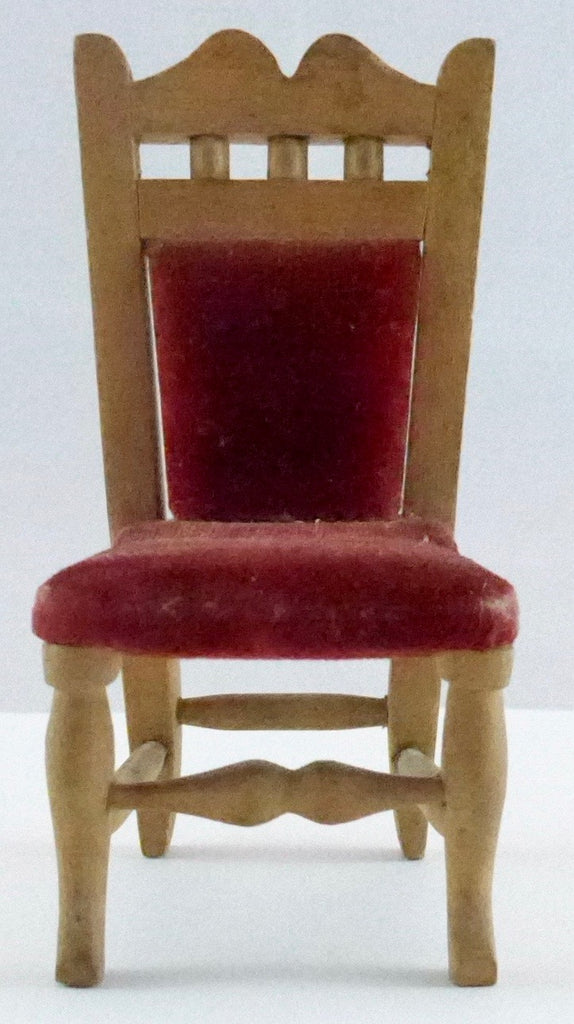 large scale dolls house chair, red