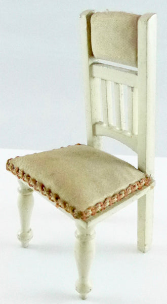 large scale dolls house chair, cream