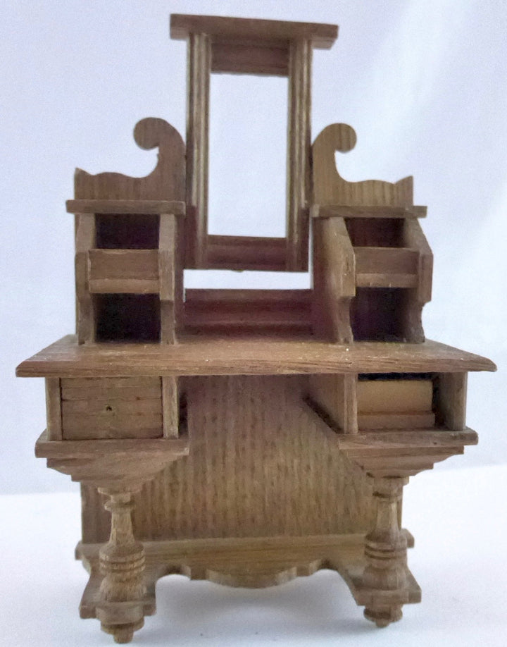vintage dollhouse wooden dressing table