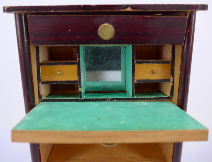 Biedermier dollhouse drop front secretaire