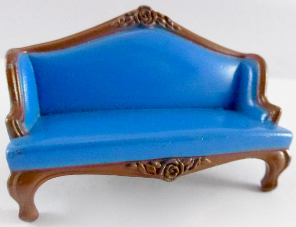 Mattel blue metal sofa