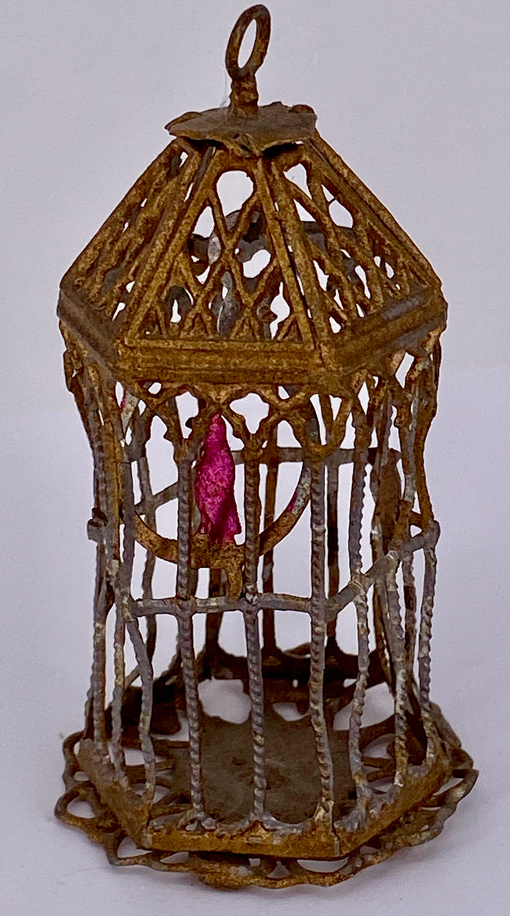 ormolu birdcage with bird