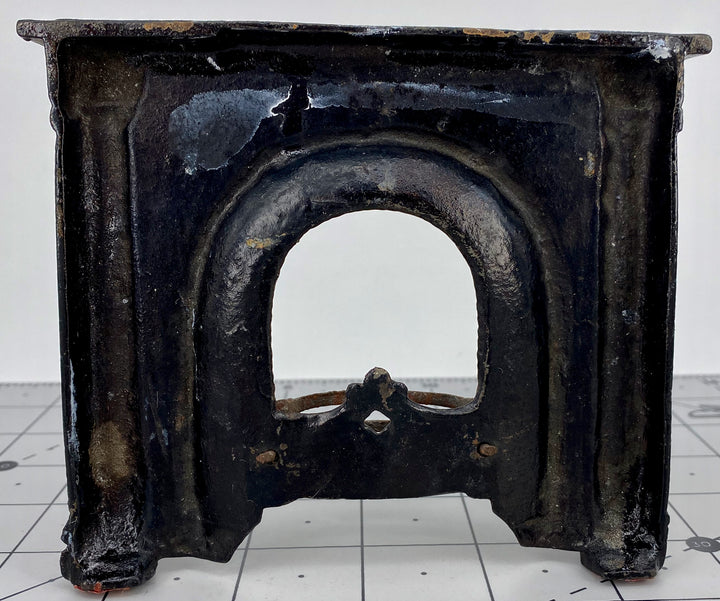black cast iron fireplace for doll house
