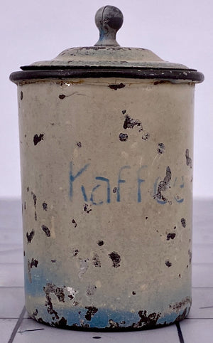 German kaffee storage tin for doll house