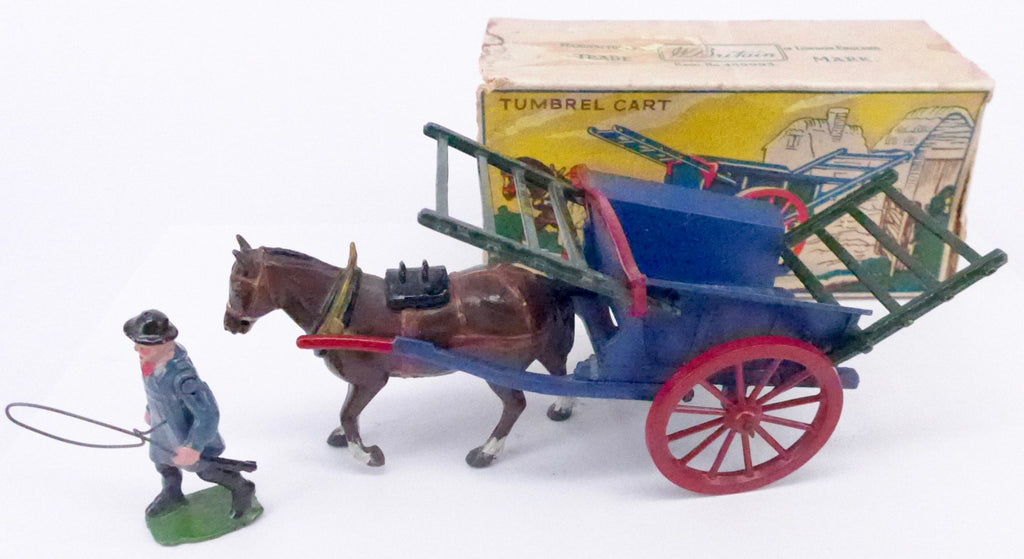 Britains tumbrel cart with carter, boxed