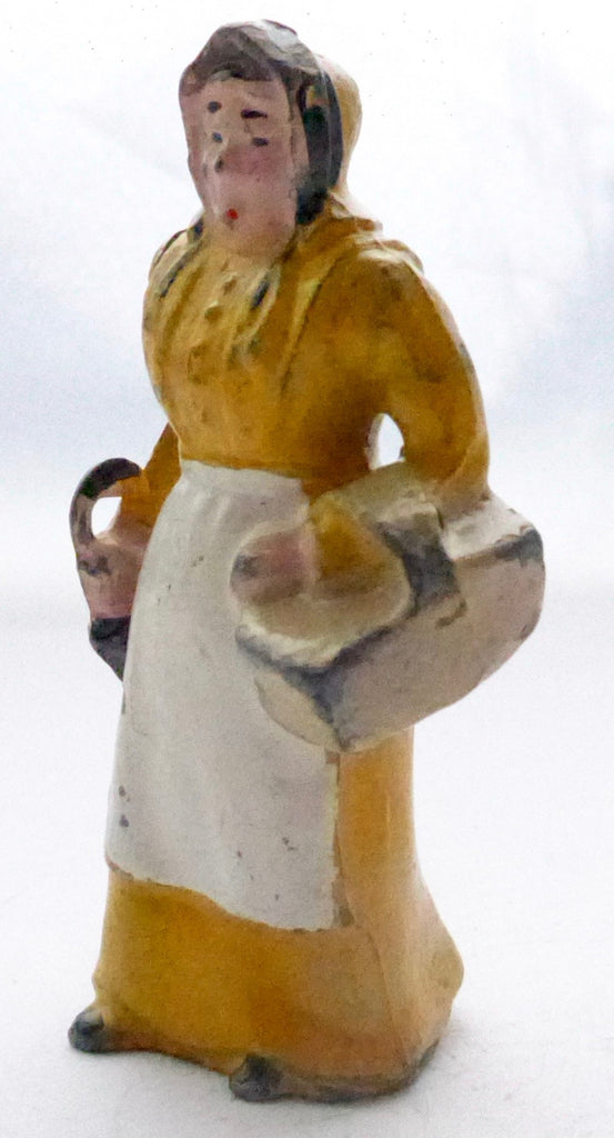 Britains farmer's wife with basket and umbrella, yellow