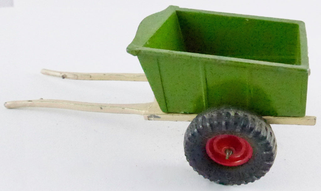 Britains rubber tyre farm cart, green