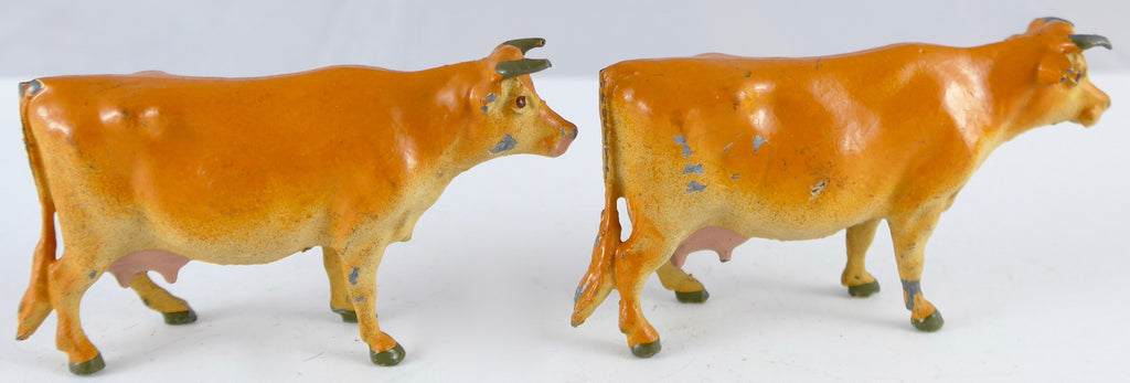 two Britains Jersey cows