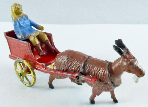 Charbens girl in goat cart, red