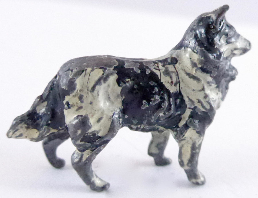 Britains collie dog, black, first version