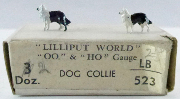Britains Lilliput series pair of collie dogs, black