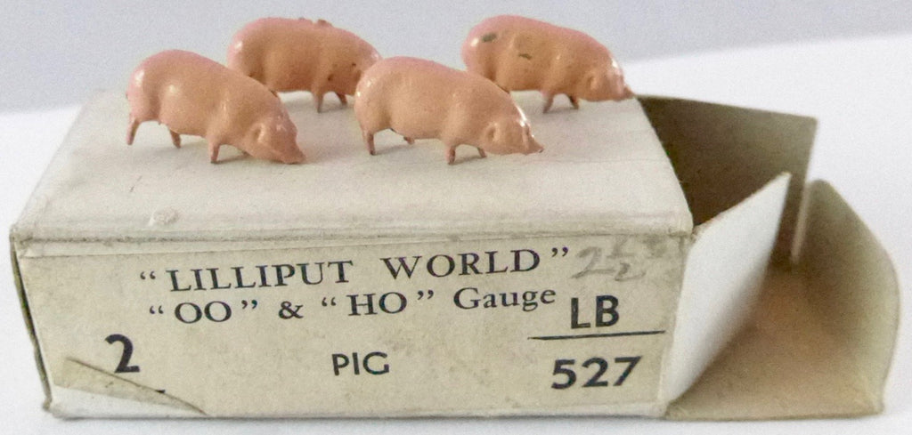 Britains Lilliput series four pigs, pink