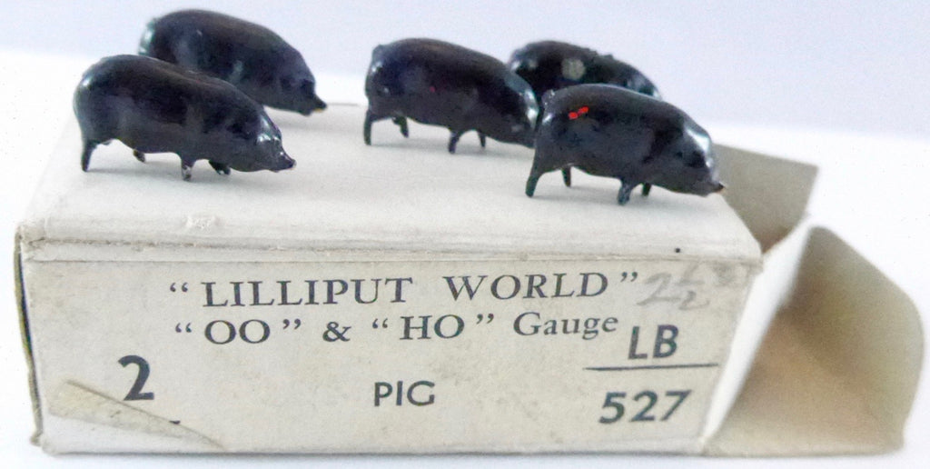 Britains Lilliput series five pigs, black