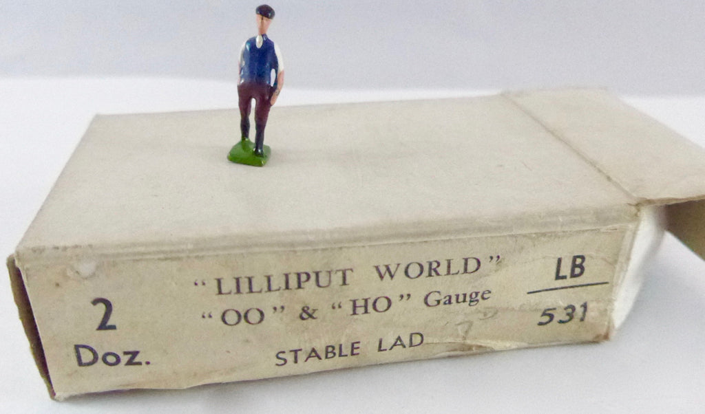 Britains Lilliput Series stable lad, blue