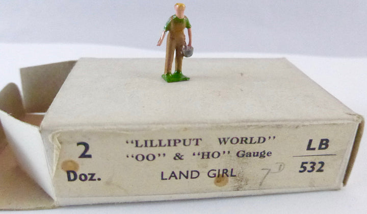 Britains Lilliput Series land girl in khaki