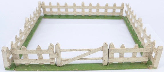 wooden fence enclosure with gate