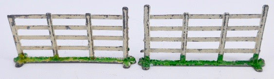 pair of white fences