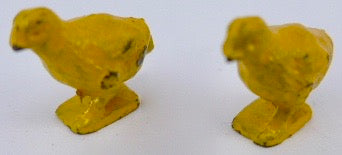 set of two Johillco yellow chicks