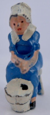 Johillco seated milkmaid, blue