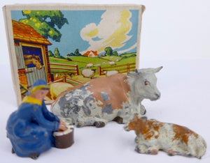 Britains Farm picture pack - milkmaid, cow and calf