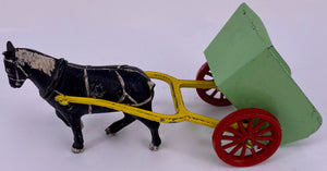 Benbros Farm hay cart with farm labourer