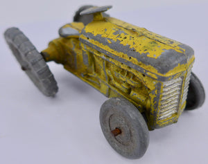 small yellow tractor