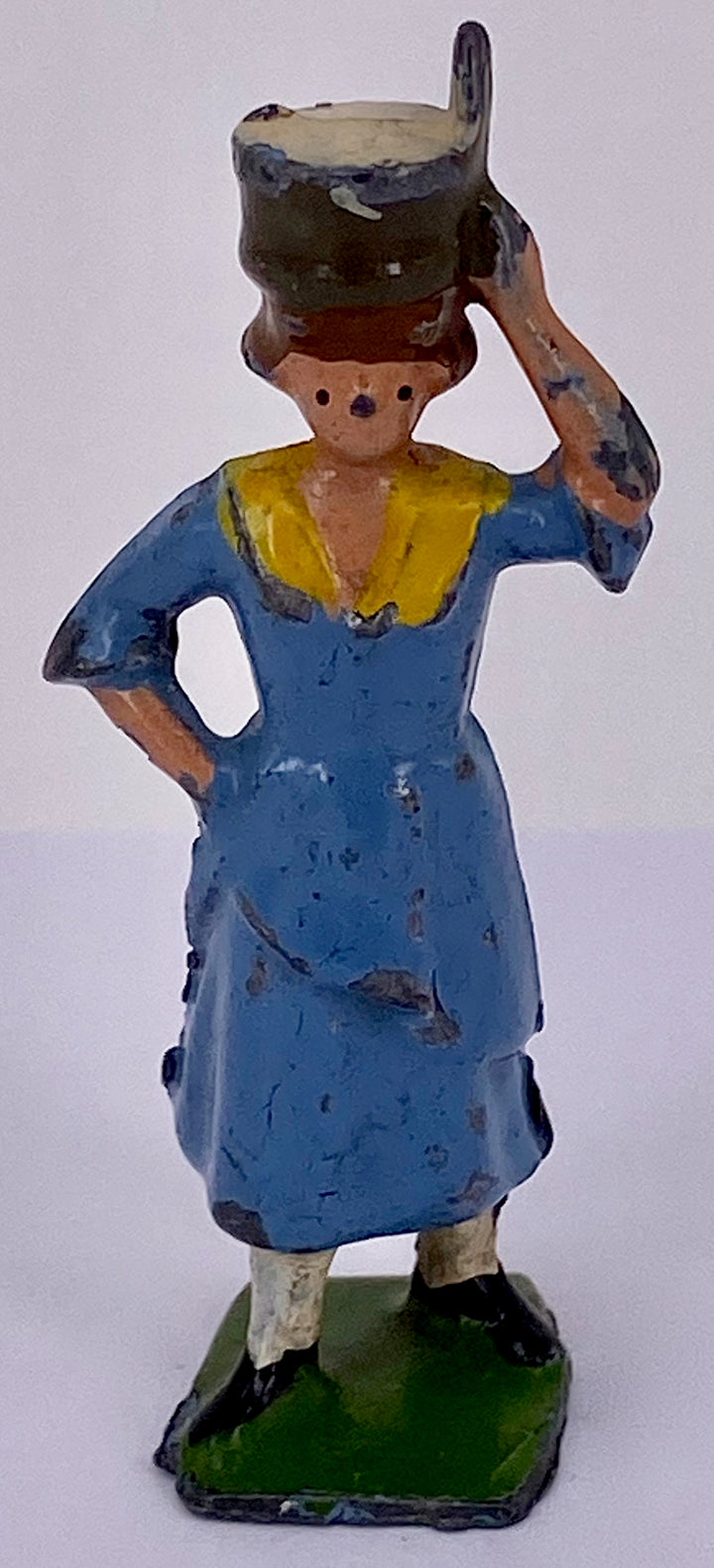 Britains milkmaid with pail on head, blue