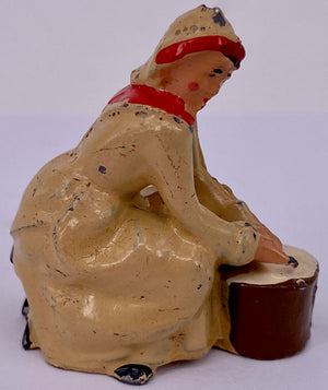 Britains seated milkmaid, cream