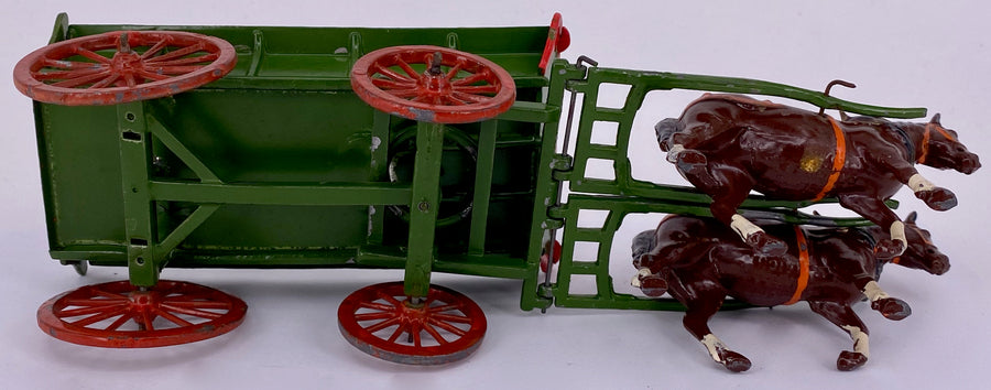Britains horse-drawn farm waggon with carter, picture box, 5F