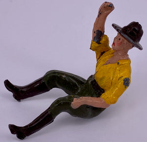Britains farm hand seated, yellow