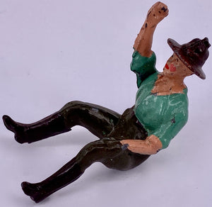 Britains farm hand seated, turquoise