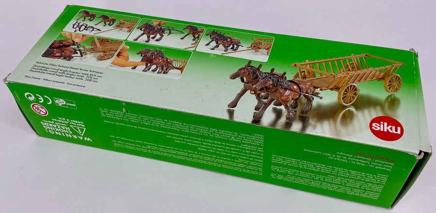 Siku boxed cart with horses