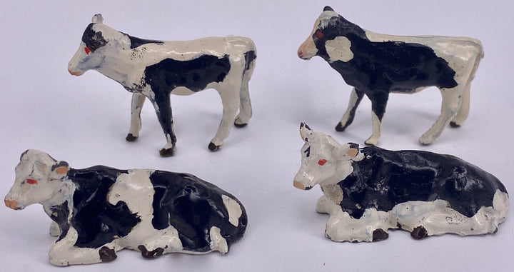 Britains calves, group of four, black & white