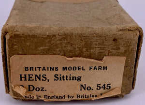 Britains trade box 3 dozen hens sitting