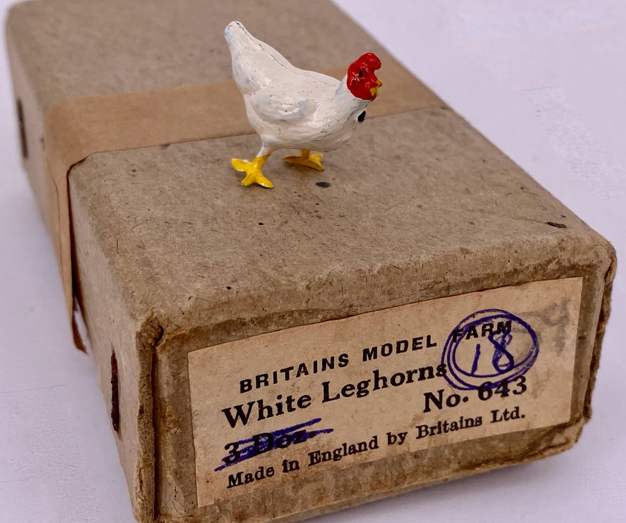 Britains Prize Poultry white Leghorn hen from trade box