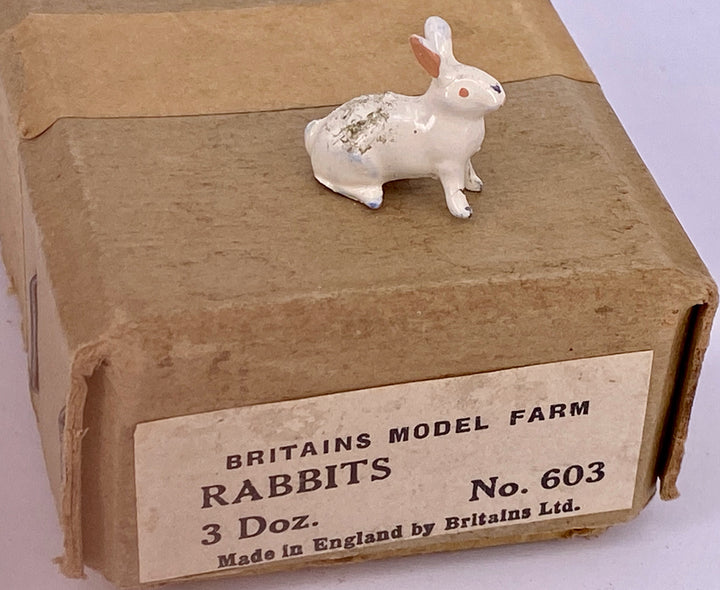 Britains white rabbit sitting from trade box