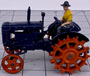Britains Fordson Major Tractor, spudded metal wheels, boxed