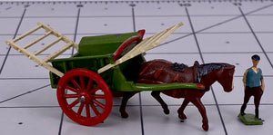 Britains Lilliput series tumbrel cart & farm hand