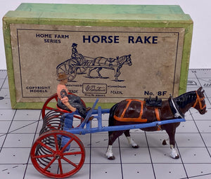 Britains Home Farm boxed horse rake set 8F