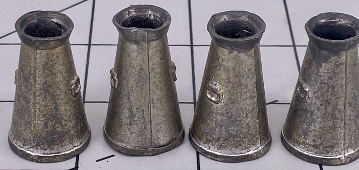 set of four Britains silver milk churns