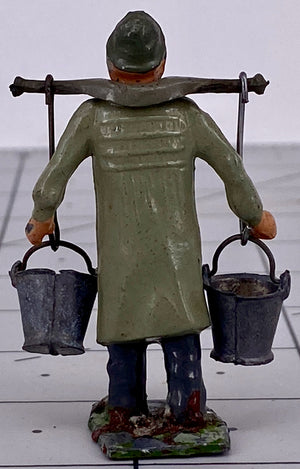 Britains dairyman, complete with yoke and pails, taupe