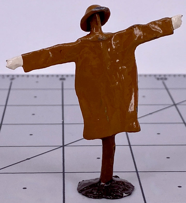 Britains scarecrow with hat, brown