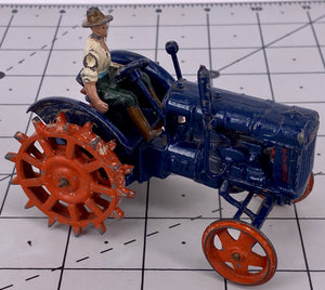 Britains Fordson Major Tractor, spudded metal wheels