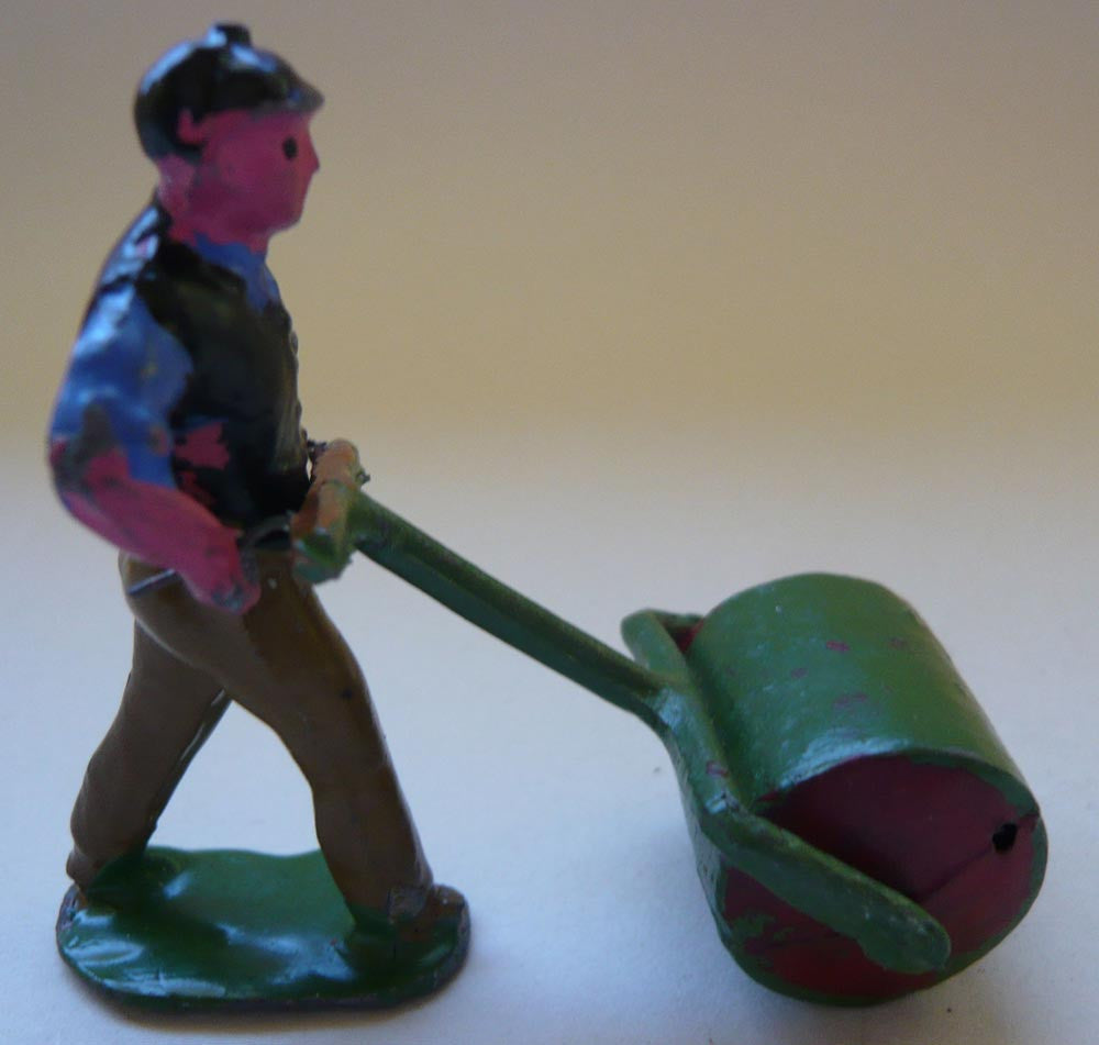 Pixyland Kew man with garden roller