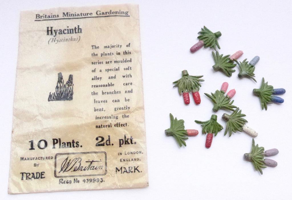 Britains Miniature Gardening glassine packet of 10 hyacinths