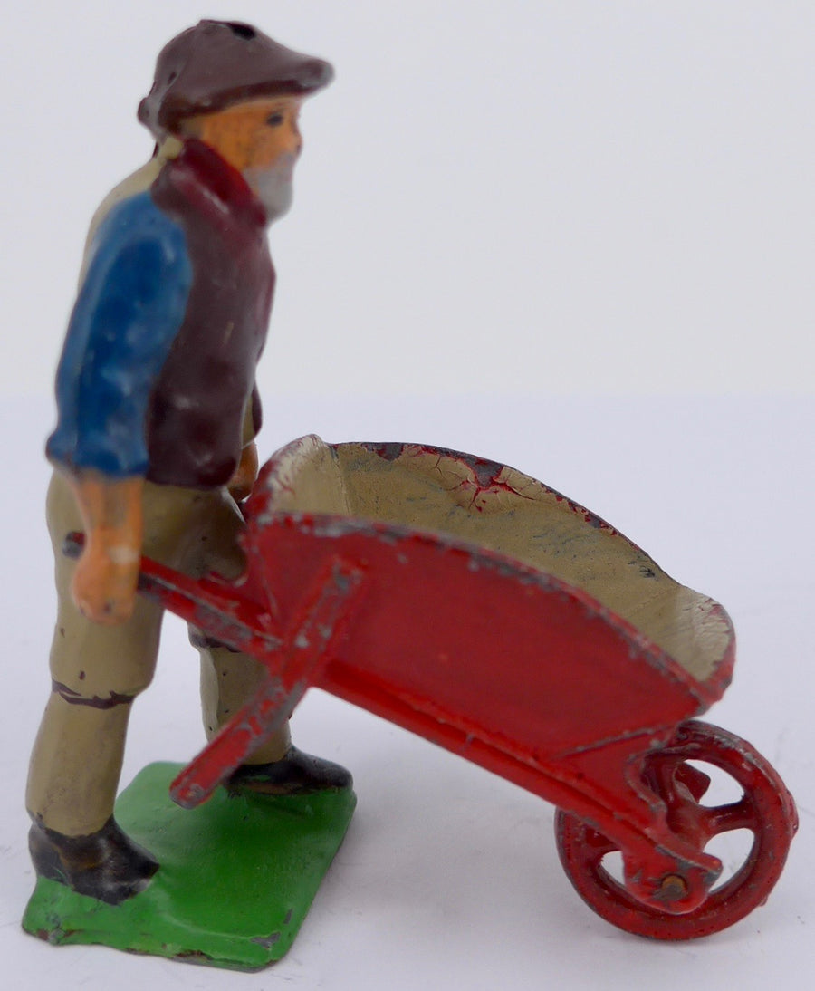 Kew gardener with wheelbarrow